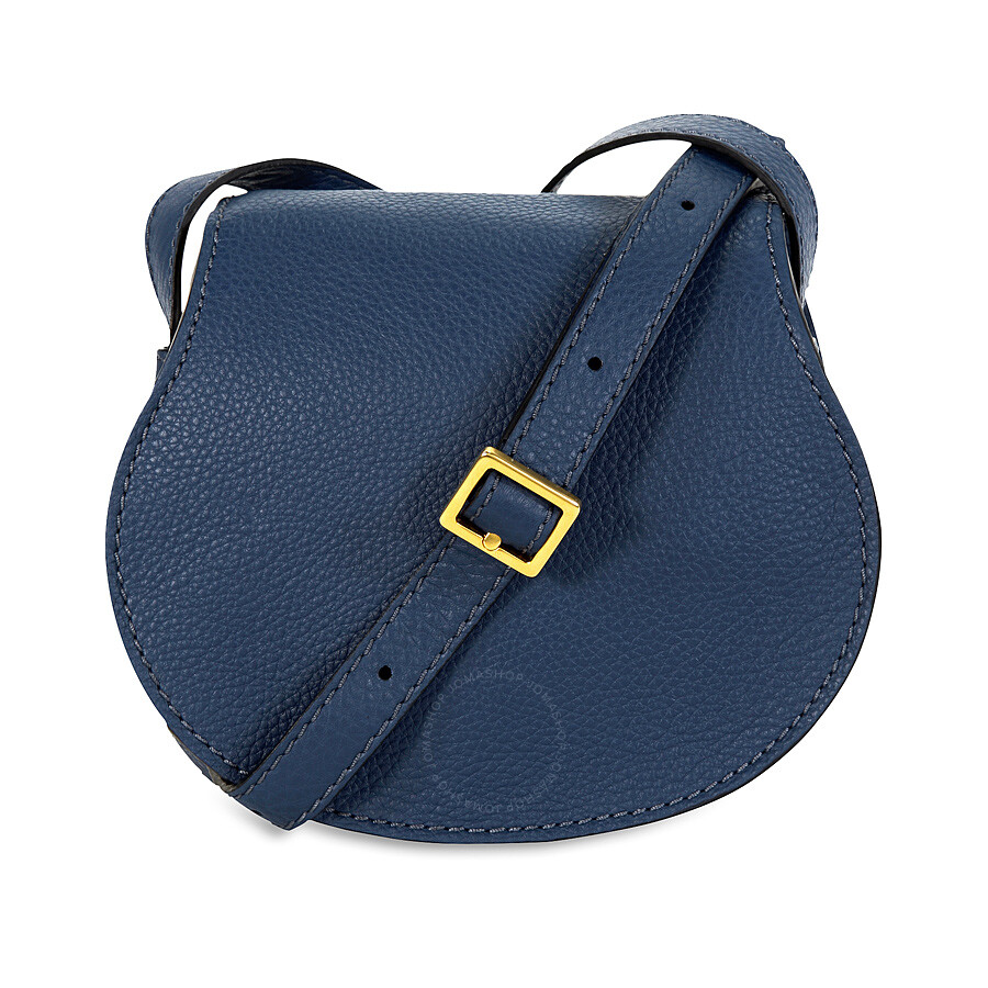 Chloe Mini Marcie Leather Handbag Royal Navy
