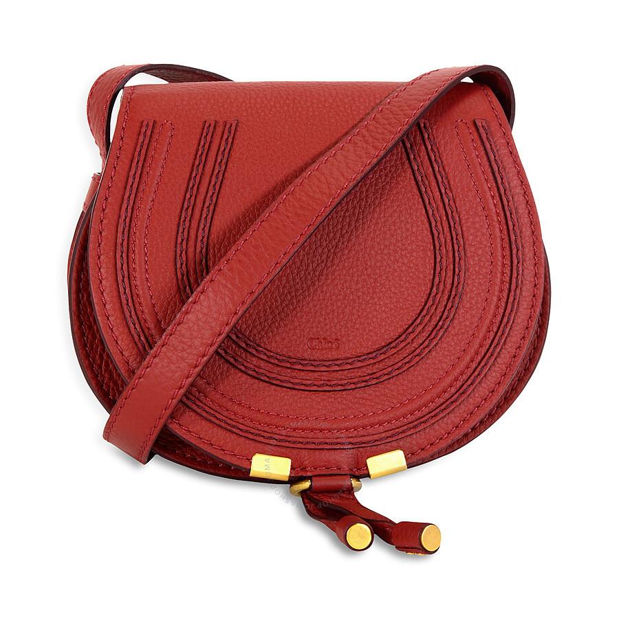 4d8cd3148d Chloe Mini Marcie Leather Handbag - Sienna Red Item No. 3P0580-161-BDV