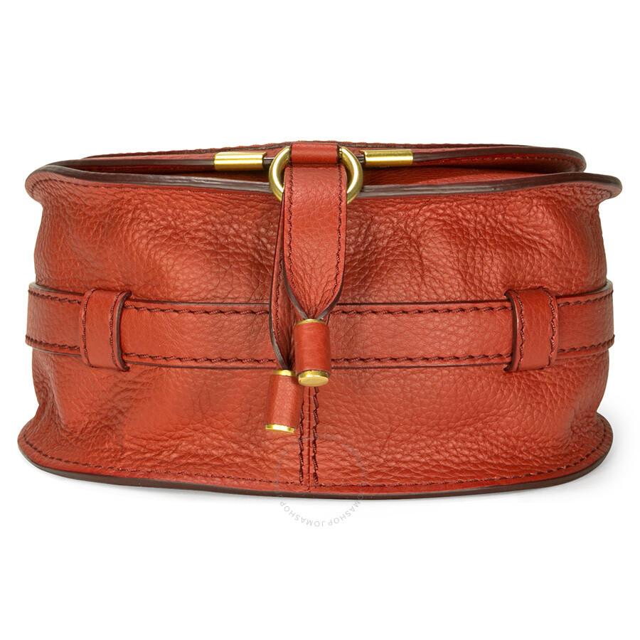 chloe it bags - Chloe Marcie Small Leather Handbag - Acerola Red - Jomashop