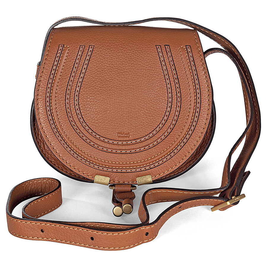 c2be14814e Chloe Mini Marcie Tan Leather Round Crossbody Bag Item No. 3P0580-161-151