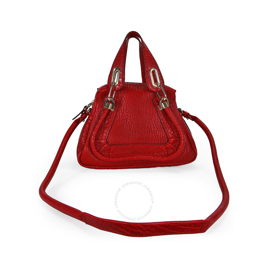 Chloe Paraty Small Leather Satchel Handbag - Acerola - Chloé ...
