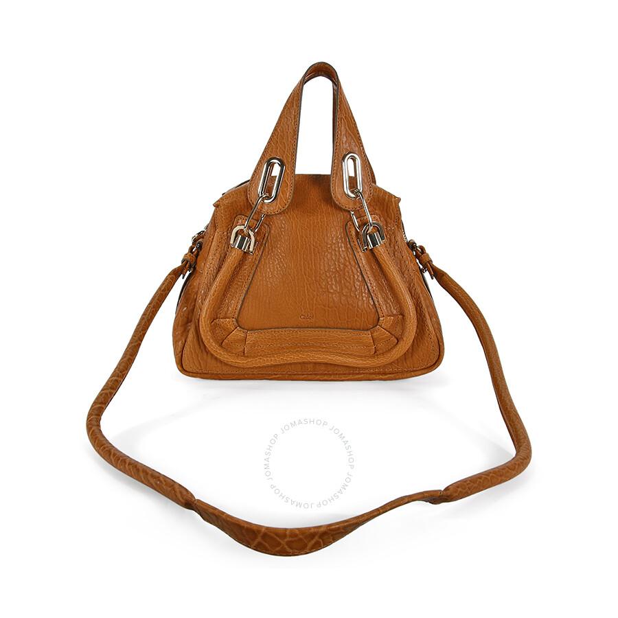 chleo handbags - Chloe Paraty Small Leather Satchel Handbag - Brown - Jomashop