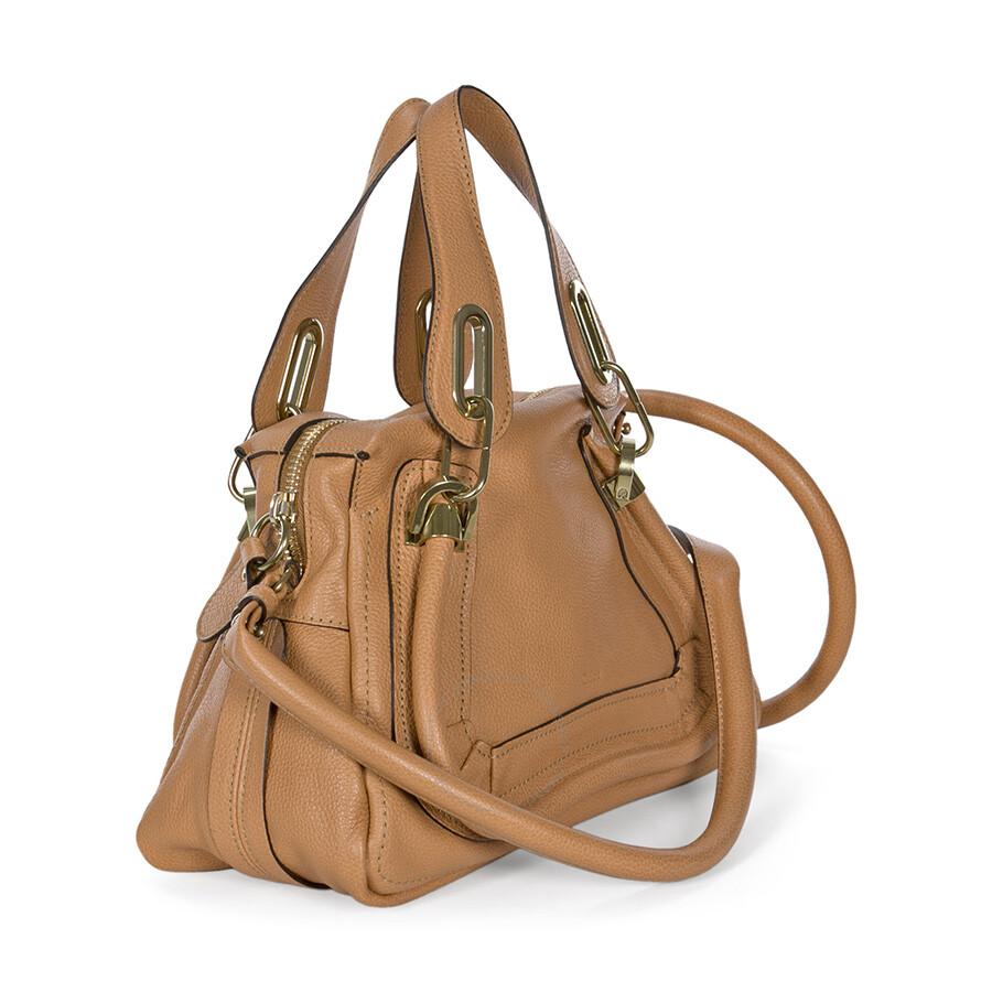 aba8a1a21512 Chloe Paraty Small Leather Satchel Handbag - Light Tan - Paraty ...