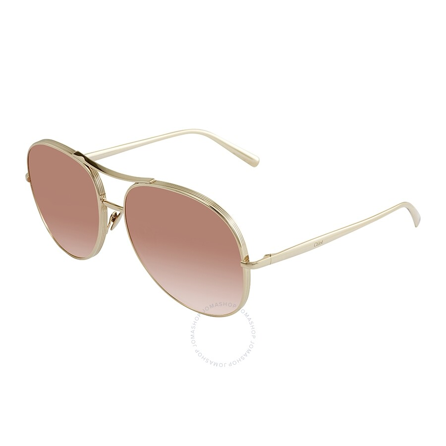 96d3b4b5f2a Chloe Rose Peach Flash Mirror Aviator Sunglasses CE127S 778 61 ...