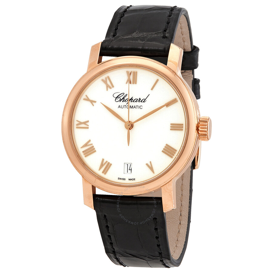 chopard classic white 18kt gold automatic