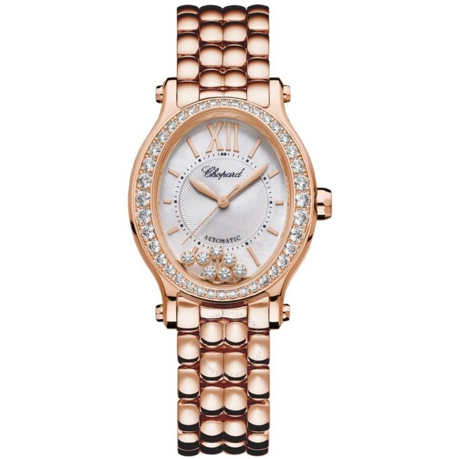 Happy Sport Automatic Chronometer Diamond Silver Dial Ladies Watch 275362-5005