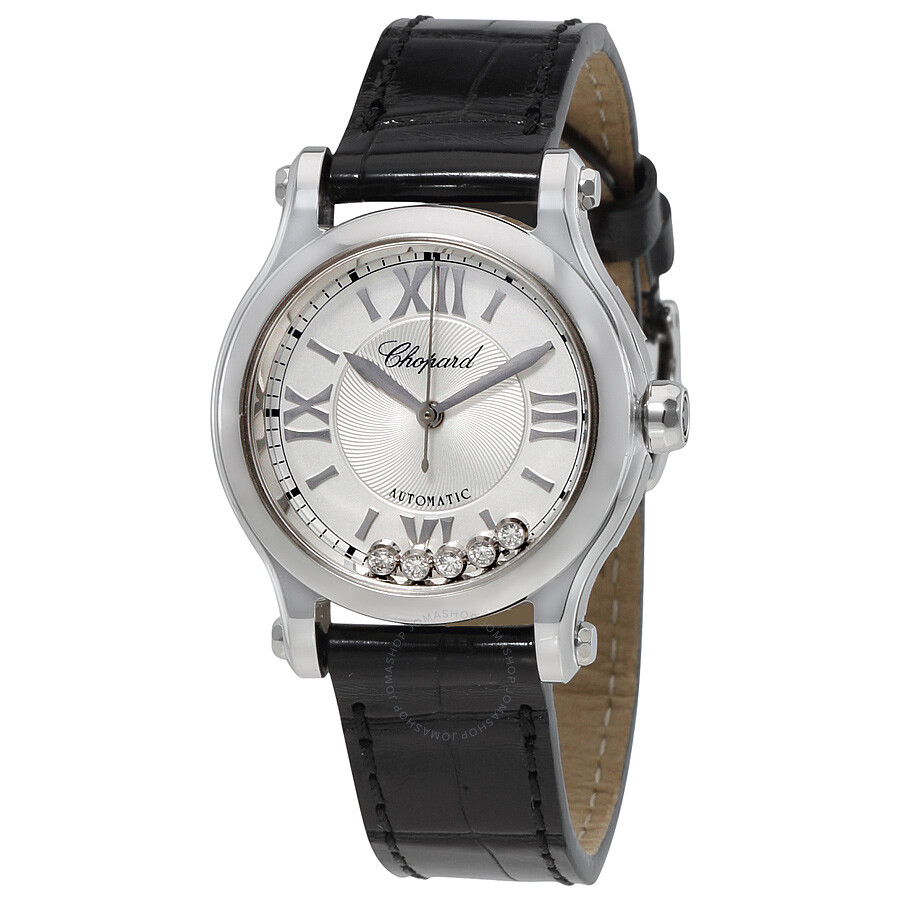 a0591e2a6b Chopard Happy Sport Automatic Silver Dial Ladies Watch 278573-3001 ...