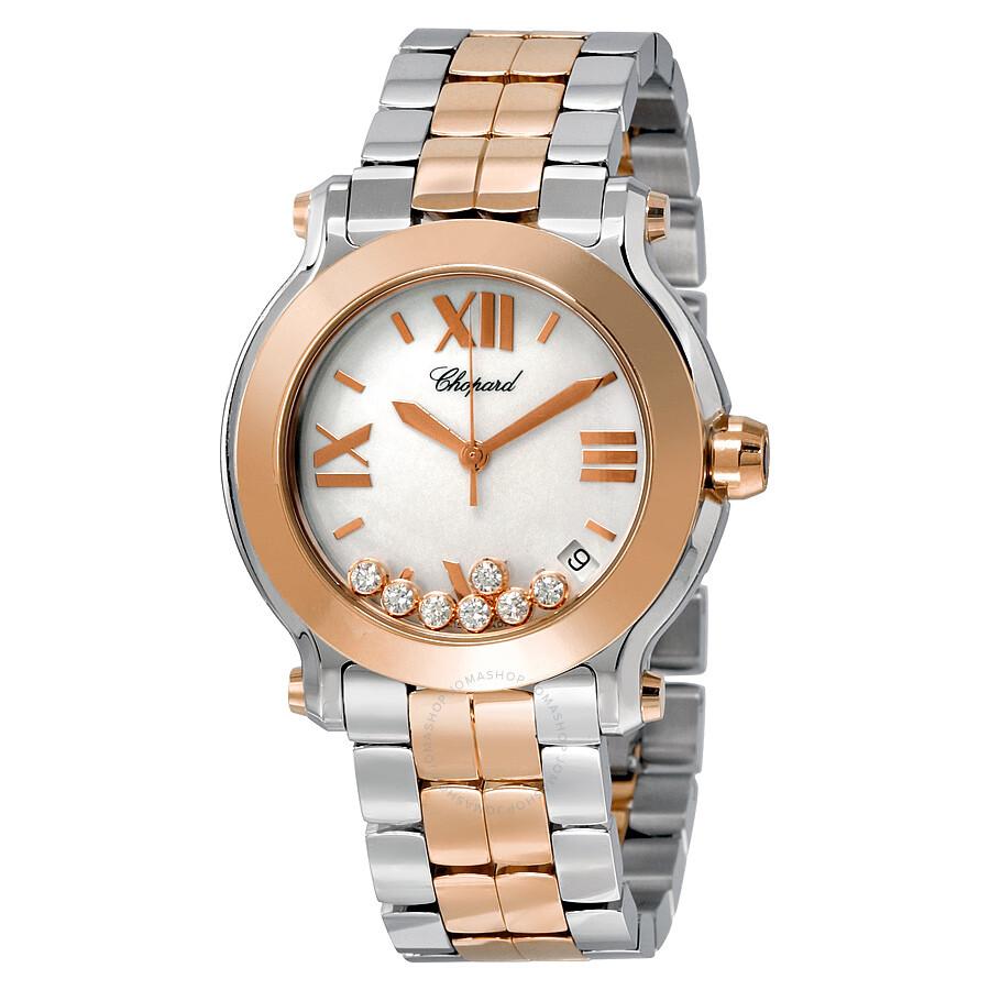 Chopard Happy Sport Diamond Ladies Watch 278488-9002 - H - Chopard ... 703d1a2c72f