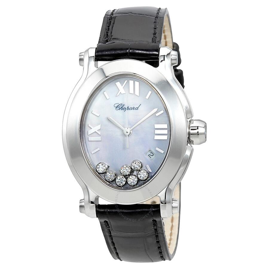 effc7da0413 Chopard Happy Sport Floating Diamonds Stainless Steel Ladies Watch