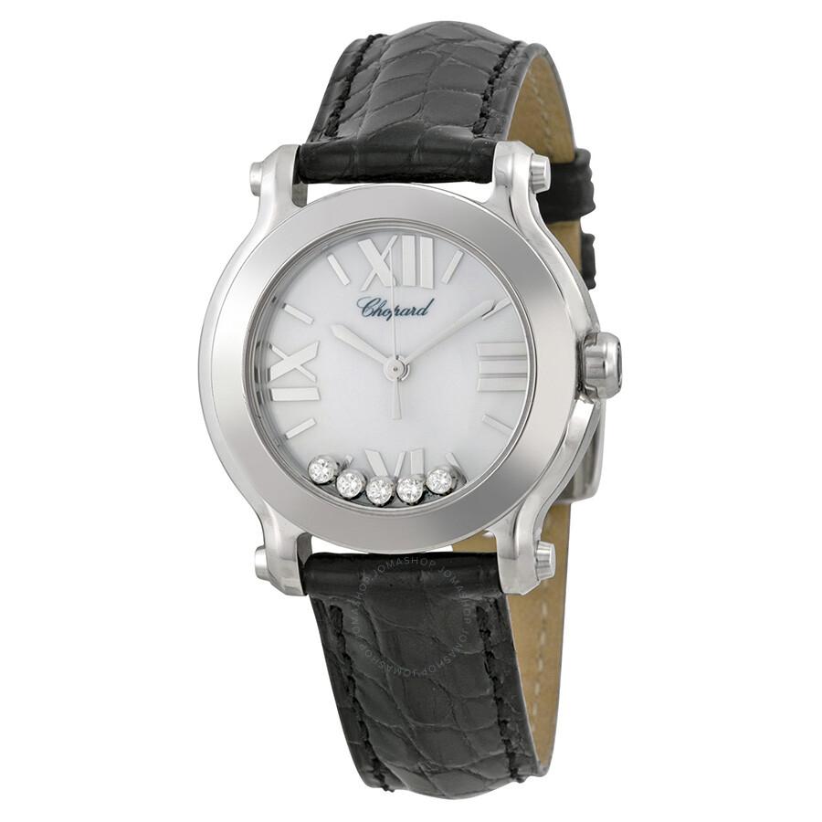 ea5758b3563 Chopard Happy Sport II Round White Diamond Dial Ladies Watch