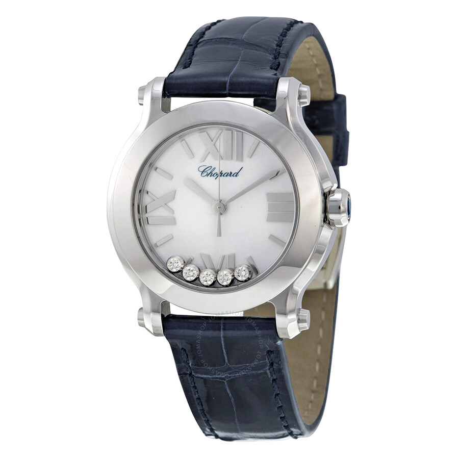Chopard happy sport mini diamond ladies watch 278509 3001 happy diamonds chopard watches for Woman diamond watches