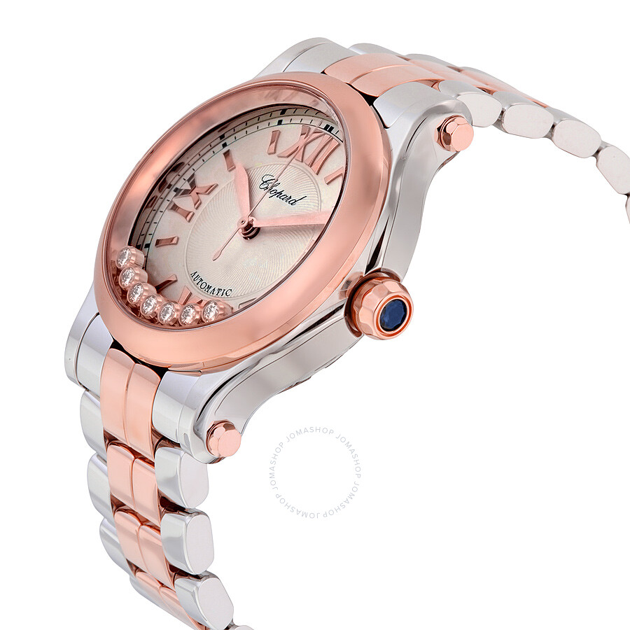 b039d3709 ... Chopard Happy Sport Silver Guilloche Dial Ladies Watch 278559-6002 ...