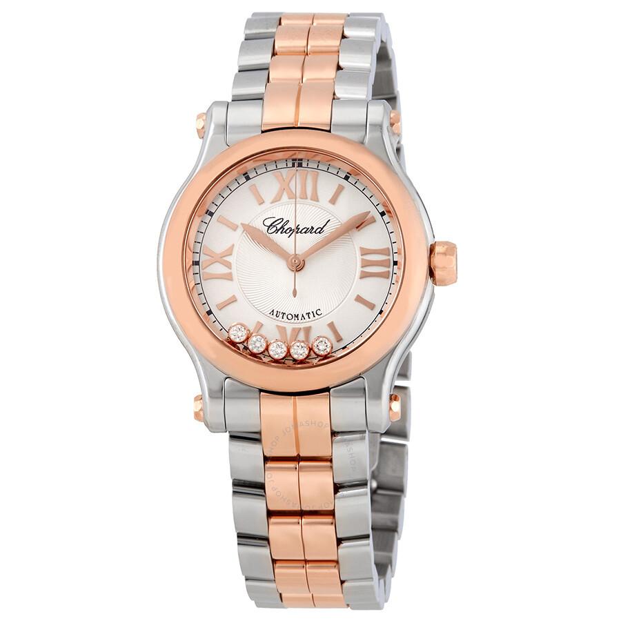 de4f970e0 Chopard Happy Sport Automatic Silver Dial Ladies Watch 278573-6002 ...