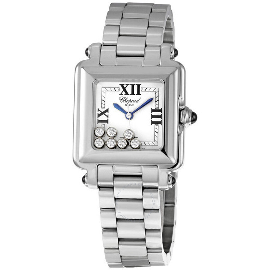 912be1abc7 Chopard Happy Sport Square Ladies Watch 278349-3006WHT - H - Chopard ...