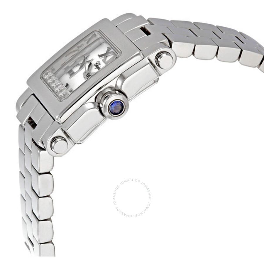 Happy Sport Square Steel Diamond Ladies Watch 278516-3002