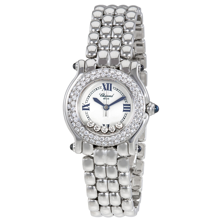 99a73acce3f11 Chopard Happy Sport Stainless Steel Ladies Watch 27/8294-23 - Happy ...
