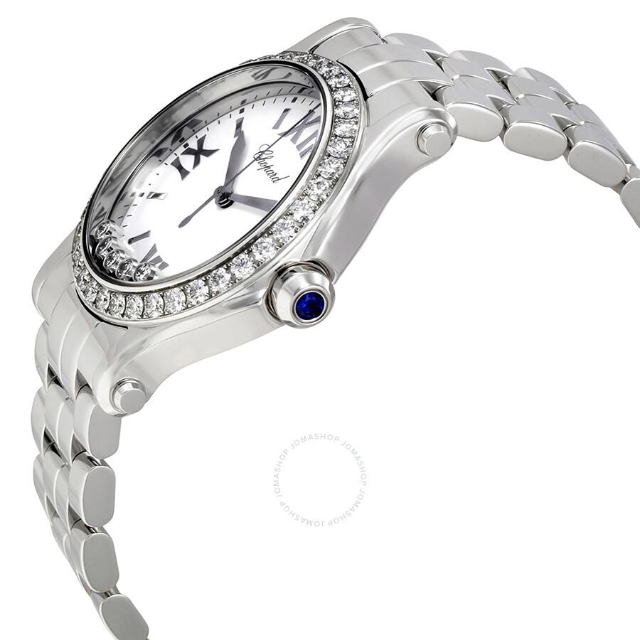 73d5c7e6844ec Chopard Happy Sport White Dial Ladies Watch 278582-3004 - Chopard ...