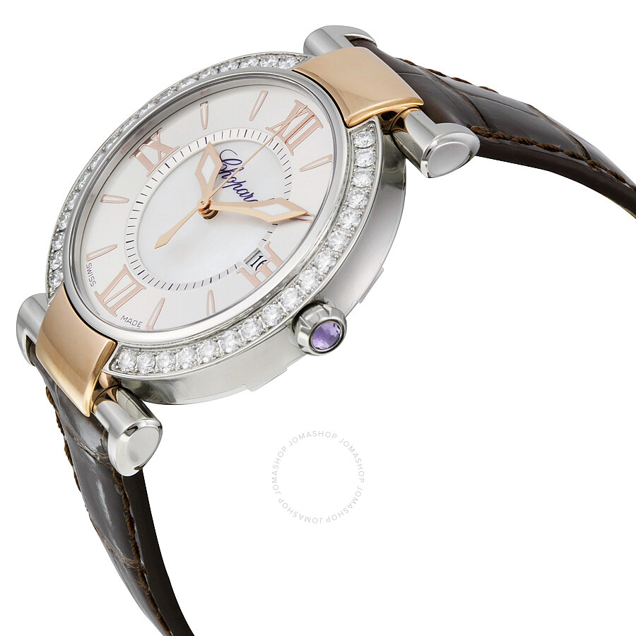 Chopard imperiale diamond silver dial ladies watch 388532 6003 imperiale chopard watches for Diamond dial watch
