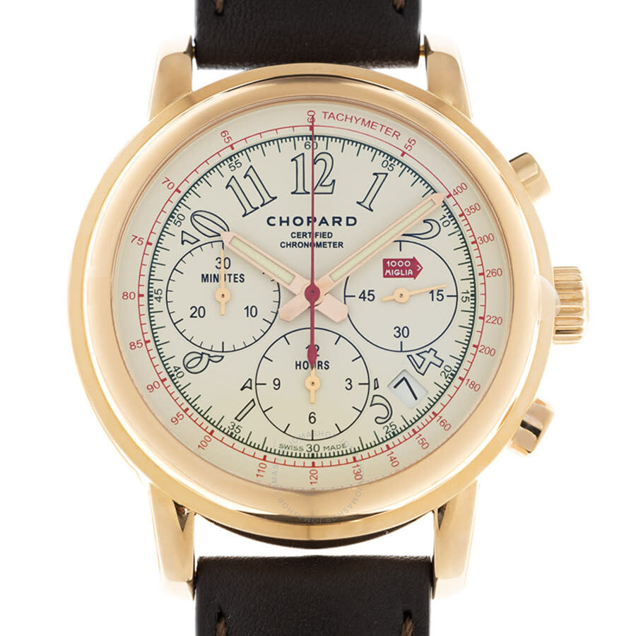 Chopard Mille Miglia Watches Jomashop Shopia Top Creme Beige M 2014 Race Edition White Dial 18 Carat Rose Gold Mens Watch