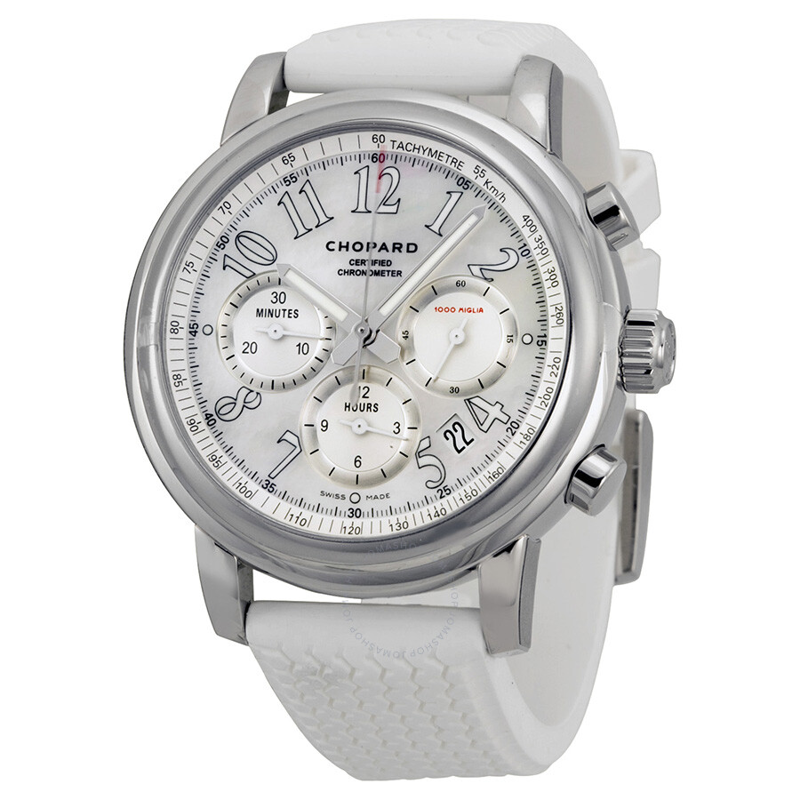 chopard mille miglia automatic chronograph white dial. Black Bedroom Furniture Sets. Home Design Ideas