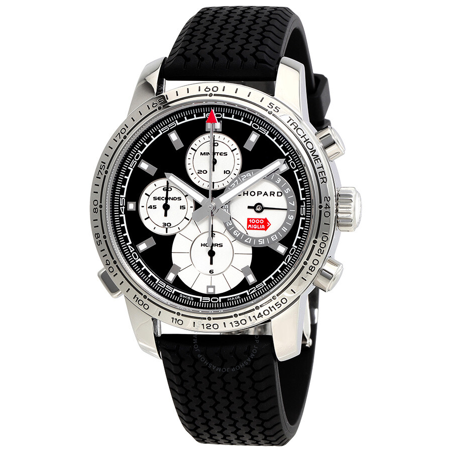 chopard mille miglia black dial black rubber men 39 s watch 168995 3002 mille miglia classic. Black Bedroom Furniture Sets. Home Design Ideas