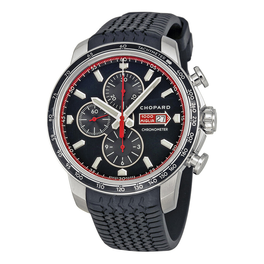 chopard mille miglia gts chrono black dial black rubber racing tires men 39 s watch 168571 3001. Black Bedroom Furniture Sets. Home Design Ideas