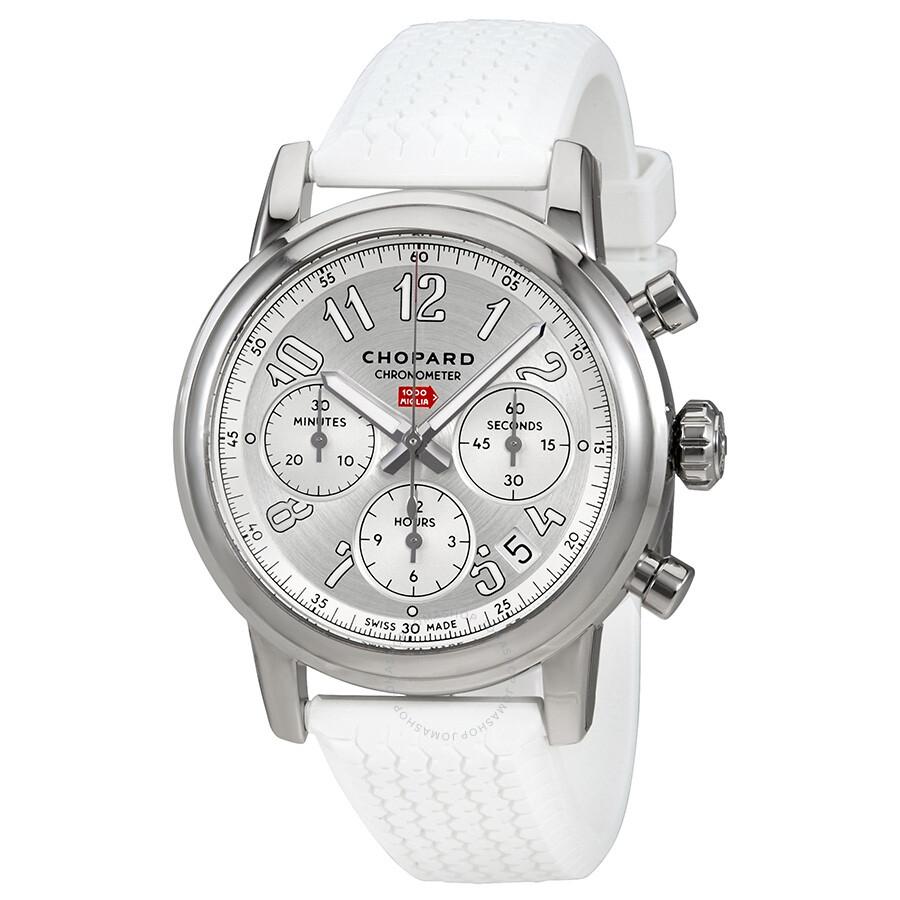 d10c27cc0a8 Chopard Mille Miglia Chronograph Silver Dial Watch