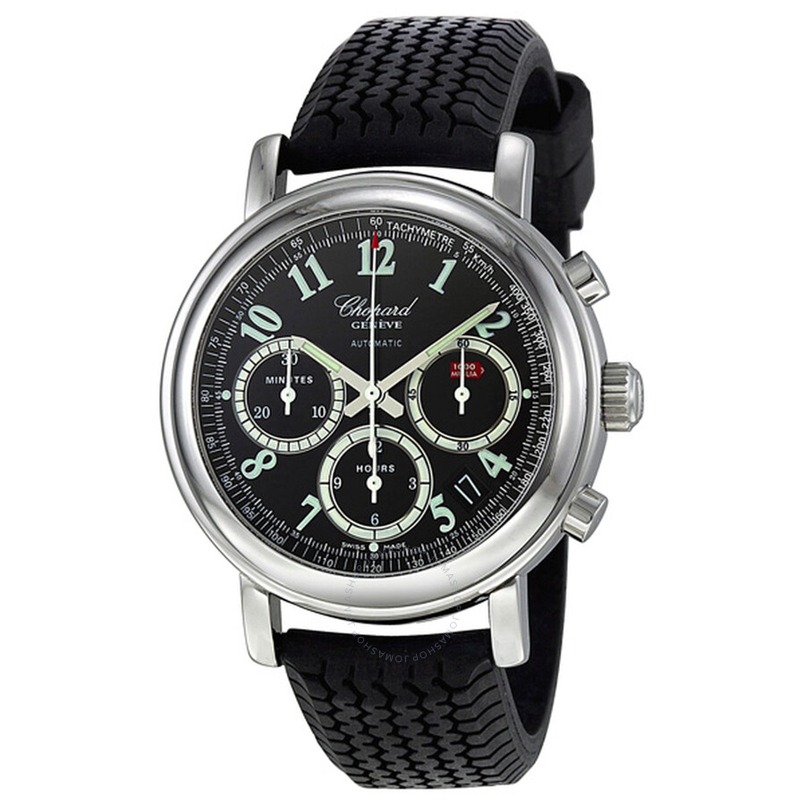 chopard mille miglia titanium black rubber chronograph men. Black Bedroom Furniture Sets. Home Design Ideas