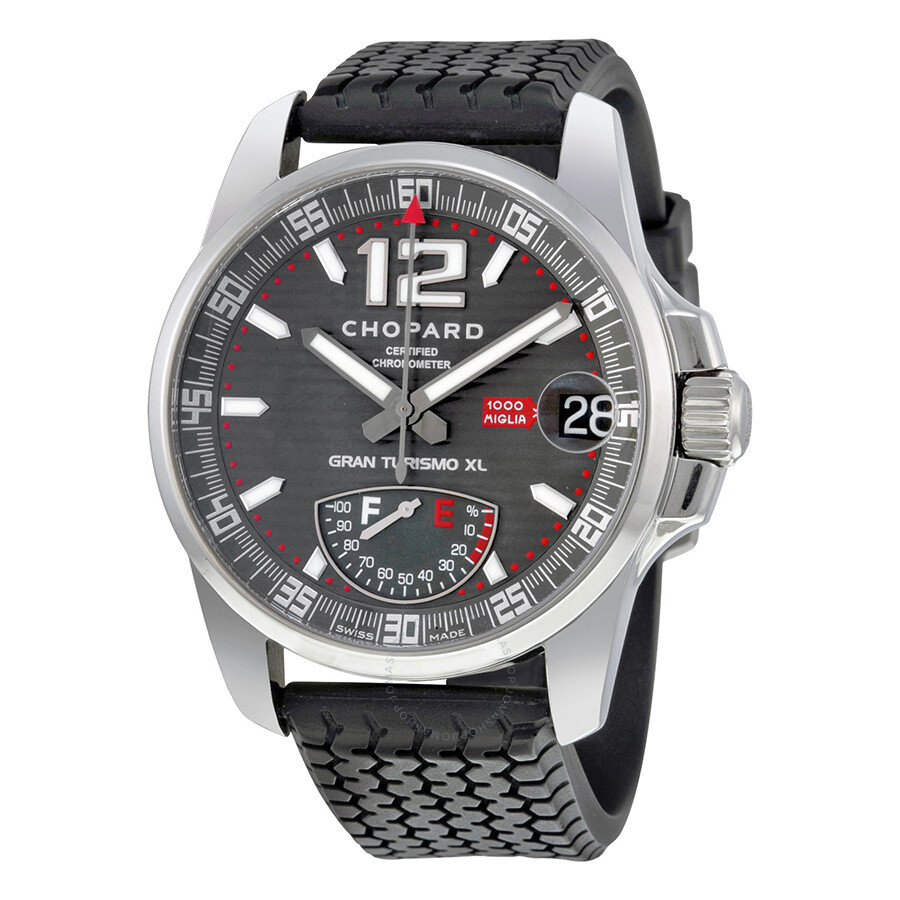 chopard mille miglia gt xl titanium men 39 s watch 168457. Black Bedroom Furniture Sets. Home Design Ideas