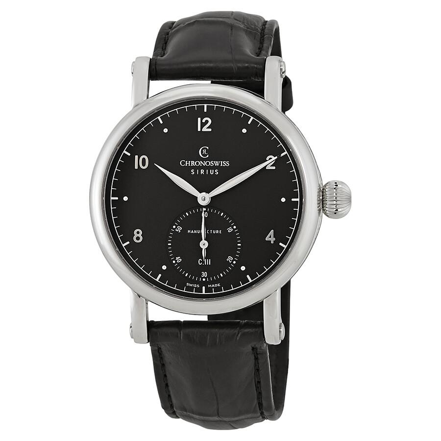 Wound 1023 Chronoswiss Hand Bk Watch Men's Sirius Manufacture Dial Ch Black 8ynwON0vm