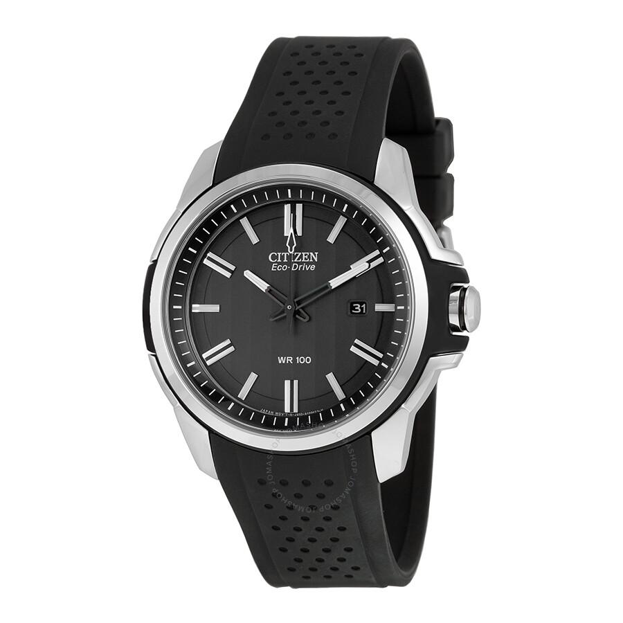 Citizen ar eco drive black dial men 39 s watch aw1150 07e for Citizen eco dive