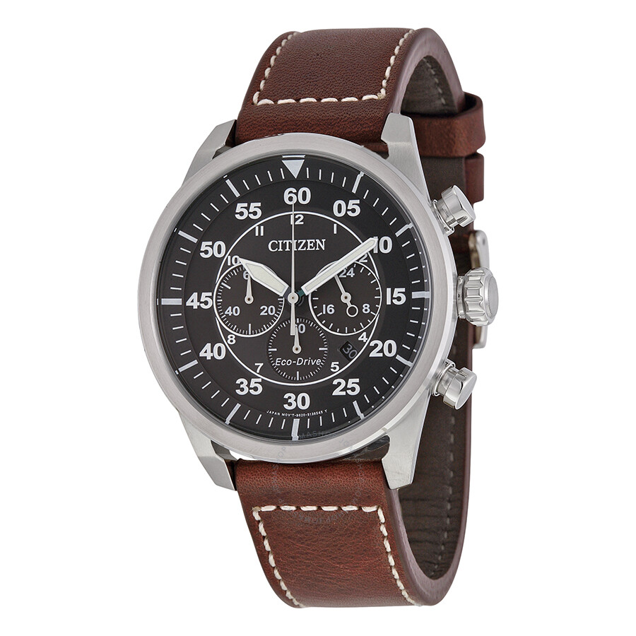 Citizen Avion Chronograph Black Dial Men's Watch CA4210 ...