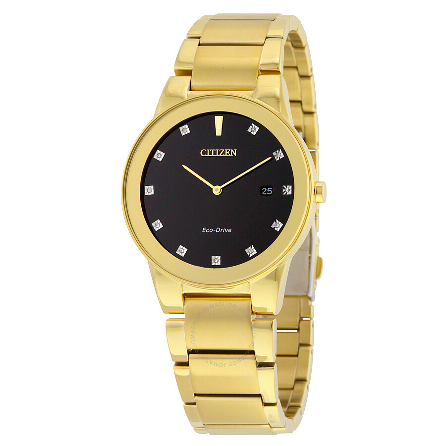 Citizen Axiom Black Dial Gold-tone Diamond Men s Watch Item No. AU1062-56G 66d54b0b8212