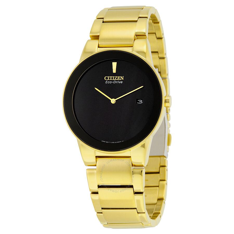 760822558 Citizen Axiom Black Dial Gold-tone Men's Watch AU1062-56E - Axiom ...