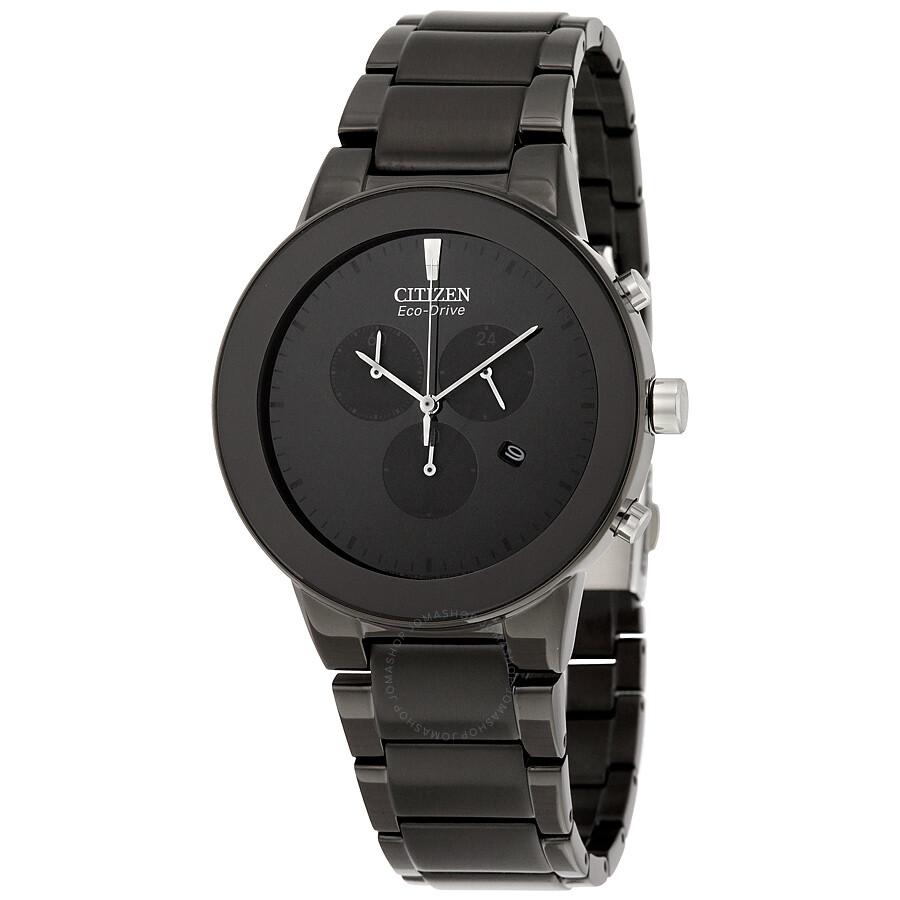1890f70b001 Citizen Axiom Eco-Drive Chronograph Black Dial Watch AT2245-57E ...