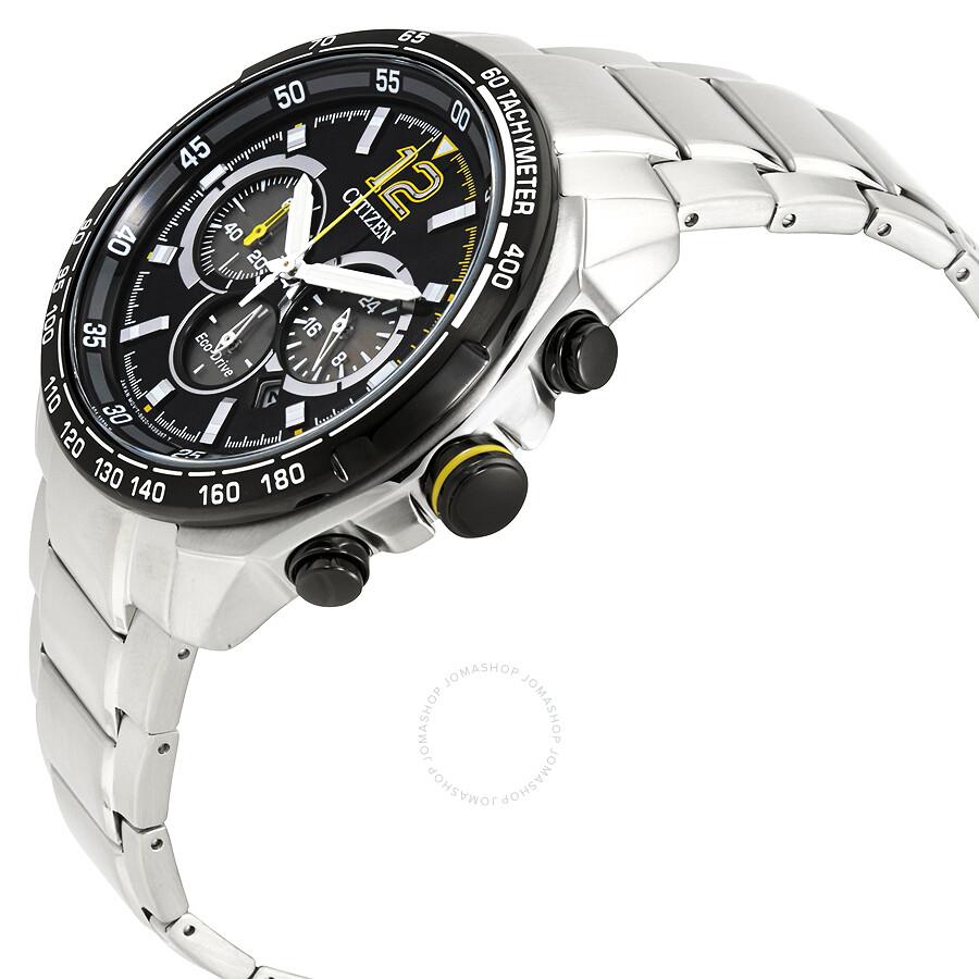 b20b9214a ... Citizen Eco-Drive Black Chronograph Dial Racing Sport Men's Watch  CA4234-51E ...