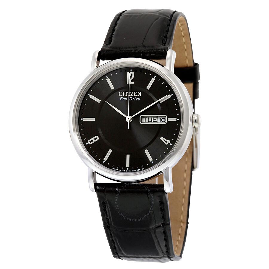 Citizen black dial men 39 s watch bm8240 03e eco drive for Citizen eco dive
