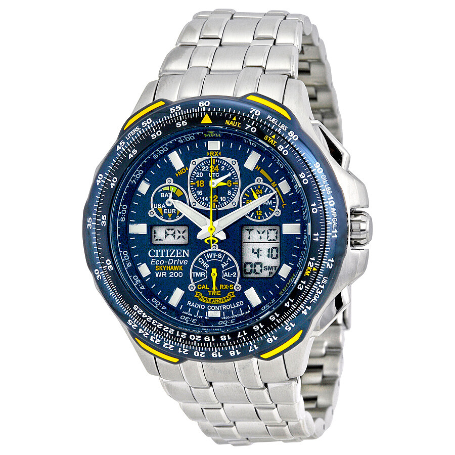 69d44f9de50 Citizen Blue Angels Skyhawk A-T Eco Drive Men s Watch JY0040-59L ...
