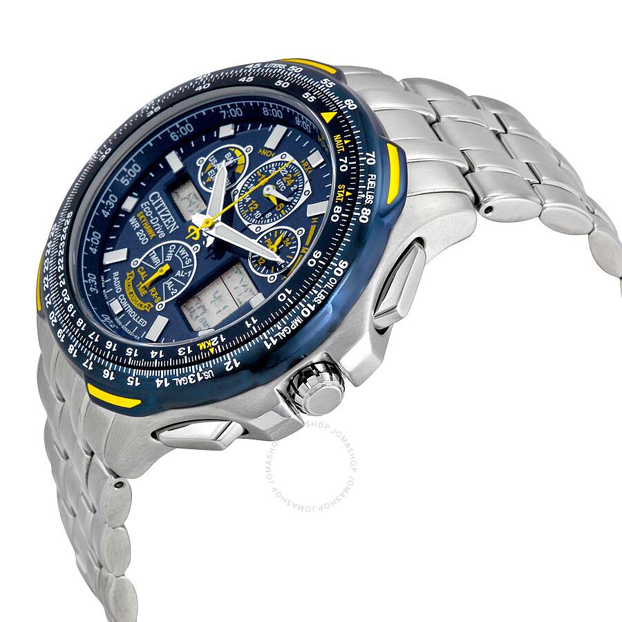Citizen blue angels skyhawk a t eco drive men 39 s watch jy0040 59l skyhawk citizen watches for Citizen watches