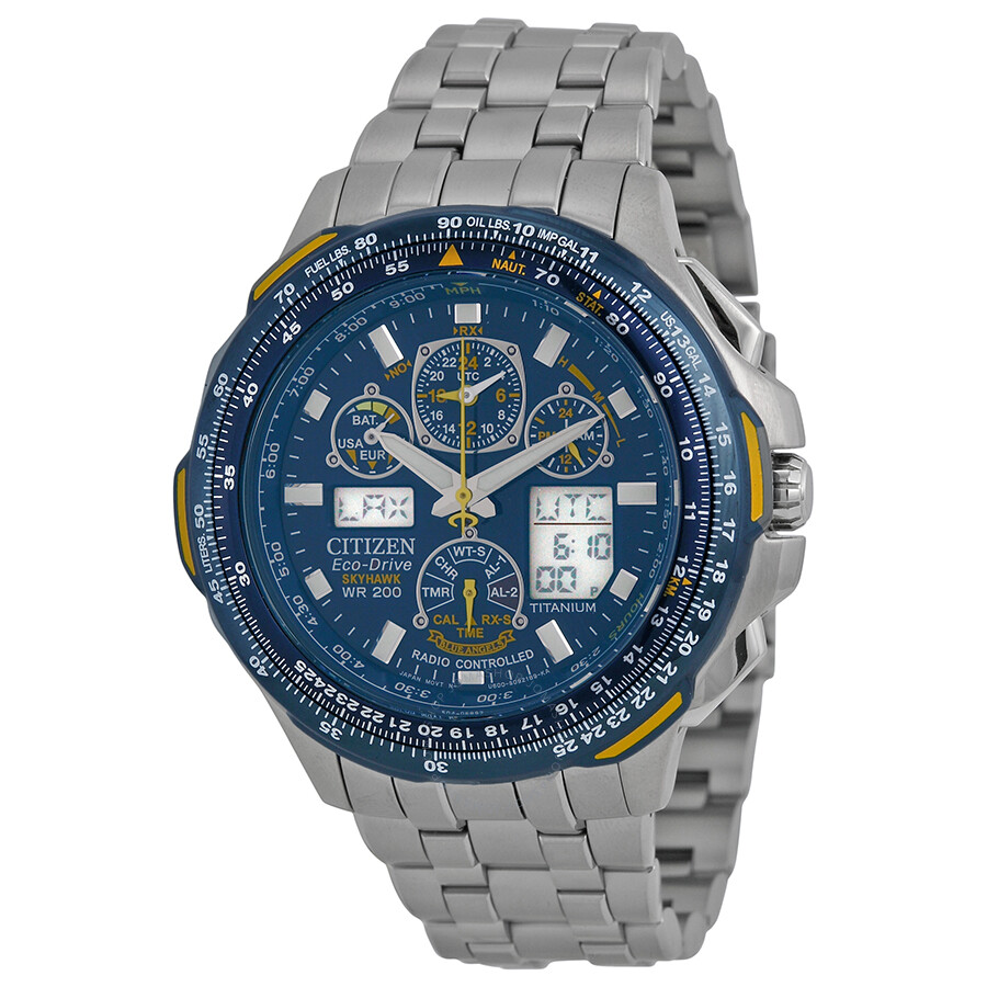4fe03c66364 Citizen Blue Angels Skyhawk A-T Men s Titanium Watch JY0050-55L ...