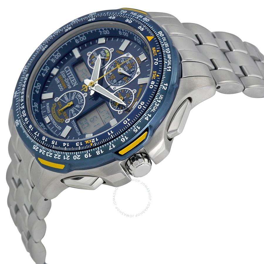fa80bd06017 ... Citizen Blue Angels Skyhawk A-T Men s Titanium Watch JY0050-55L ...
