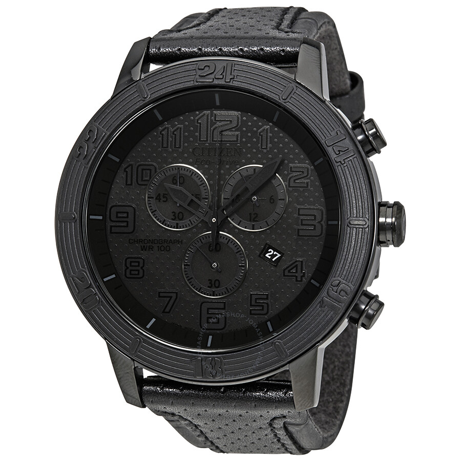 citizen brt eco drive chronograph black s