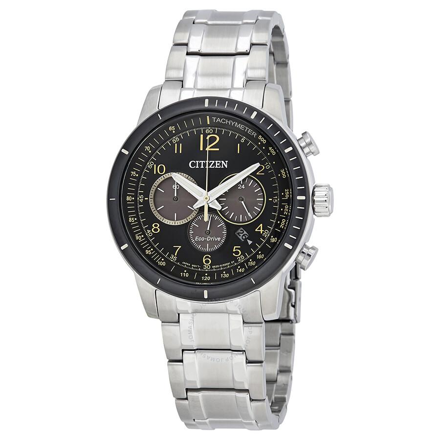 Citizen Brycen Chronograph Black Dial Men S Watch Ca4358 58e