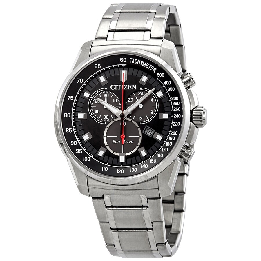Citizen Brycen Chronograph Black Dial Men S Watch At2370 55e