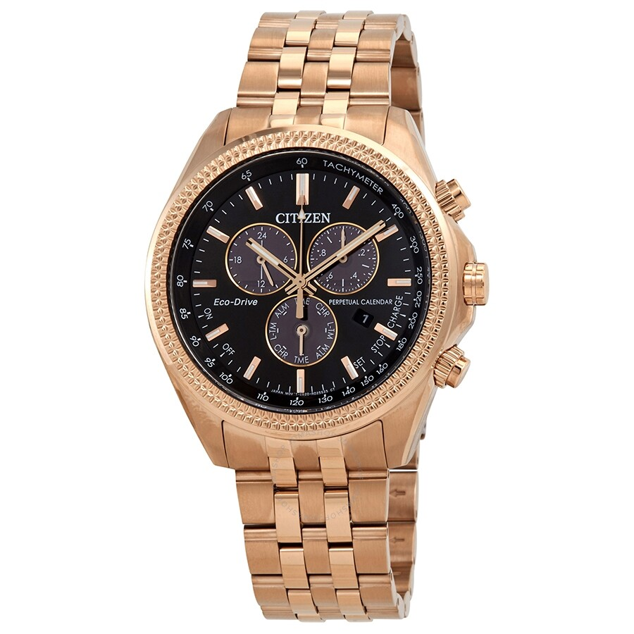 Citizen Brycen Perpetual Chronograph Black Dial Men S Watch Bl5563 58e