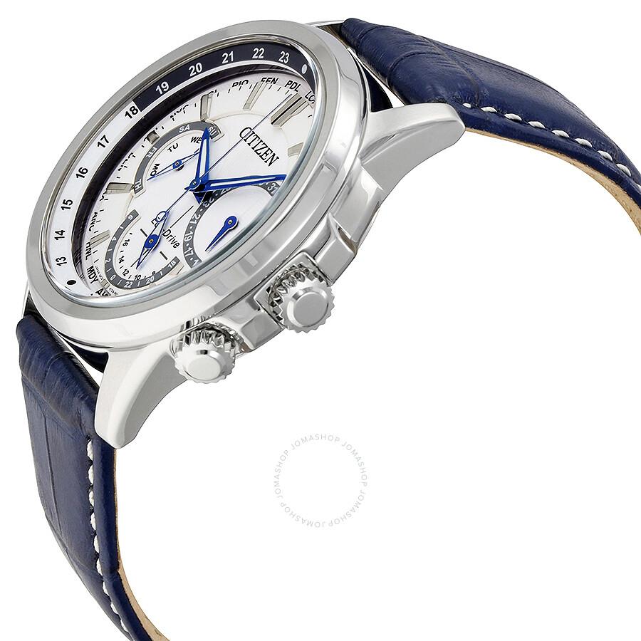 Bu 2020 Calendar Citizen Calendrier Eco Drive White Dial Men's Watch BU2020 02A