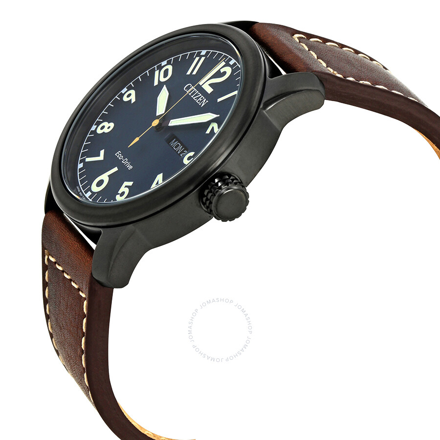b82168a97 ... Citizen Chandler Dark Blue Dial Brown Leather Men's Watch BM8478-01L ...