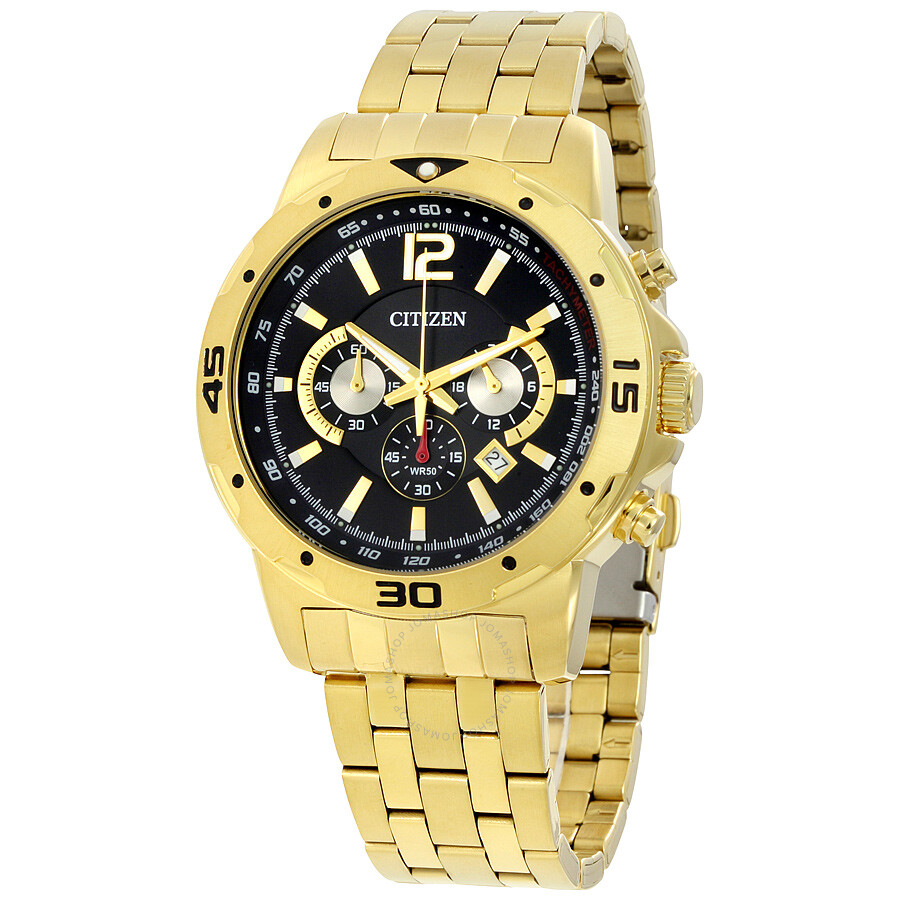 Citizen Chronograph Black Dial Men's Watch AN8102-59E ...