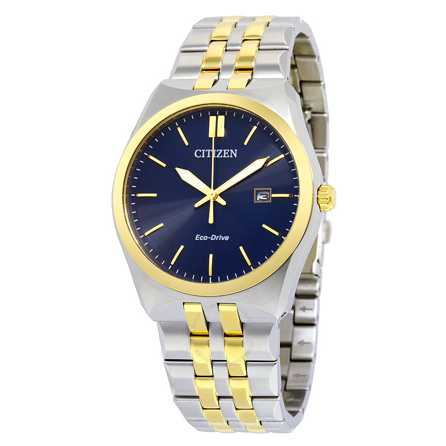 citizen corso eco drive blue two tone stainless steel
