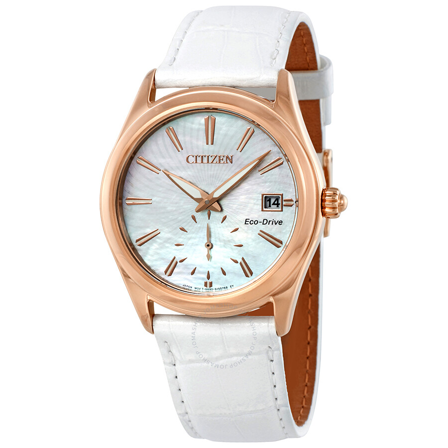 d489686cc Citizen Corso Mother of Pearl Dial Solar Powered Ladies Watch EV1033-08D ...